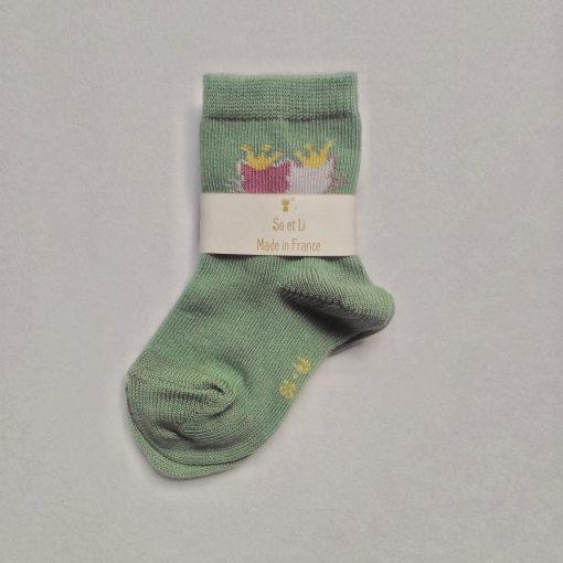 Chaussettes bébé coloris vert willow