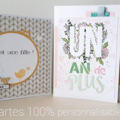 cartes personalisées